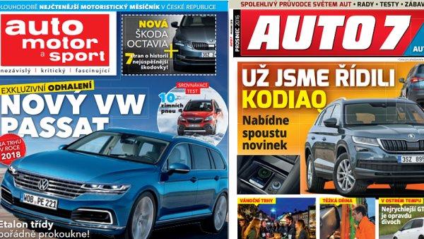 Časopisy Auto, motor a sport a Auto 7