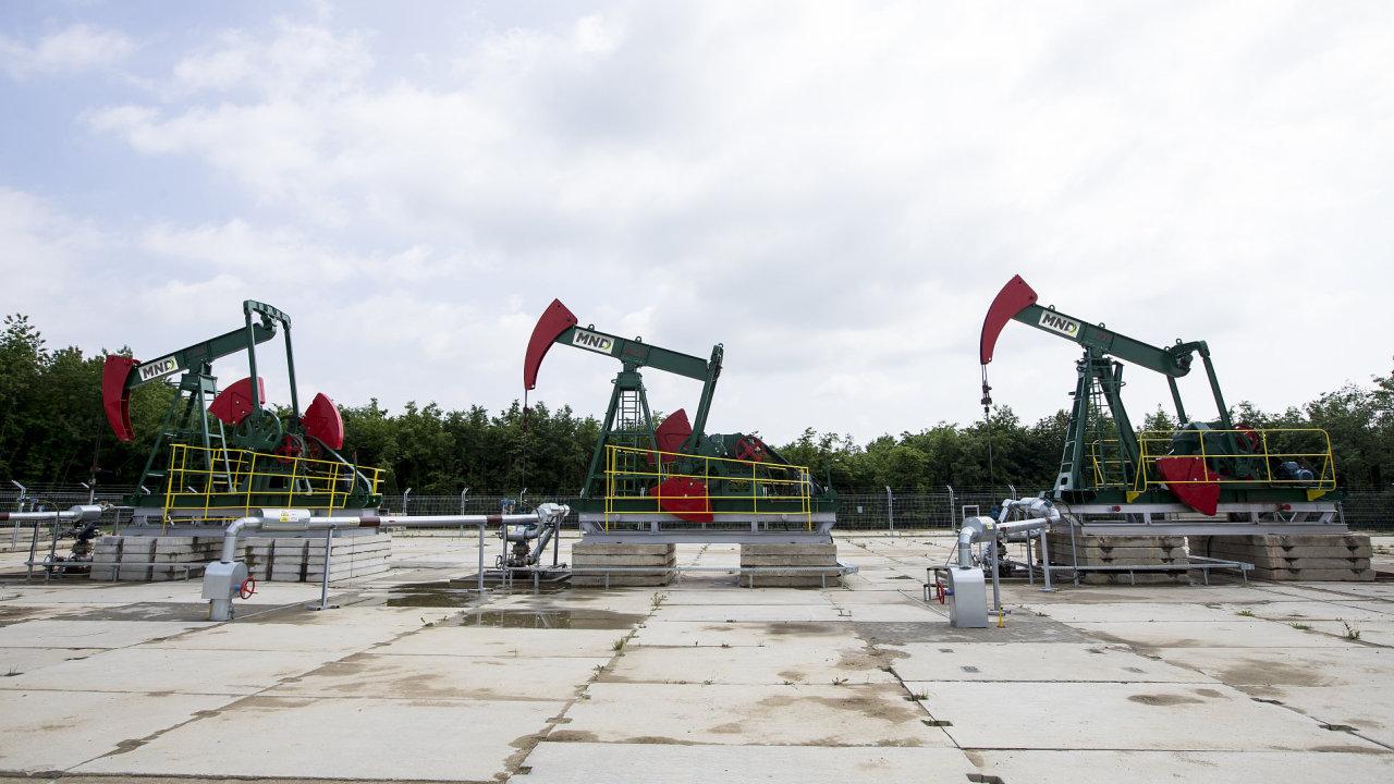 Těžební pumpy firmy MND na jižní Moravě