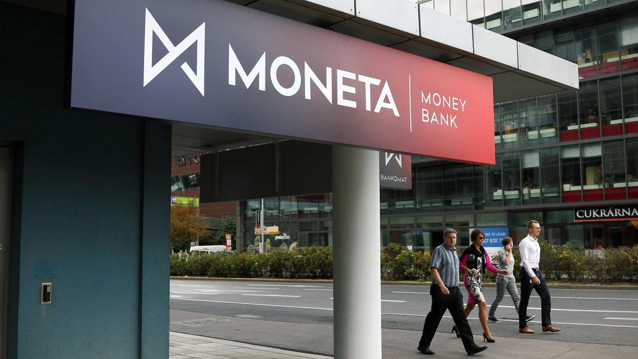 Moneta Money Bank. Sídlo banky na Brumlovce v pražské Michli.