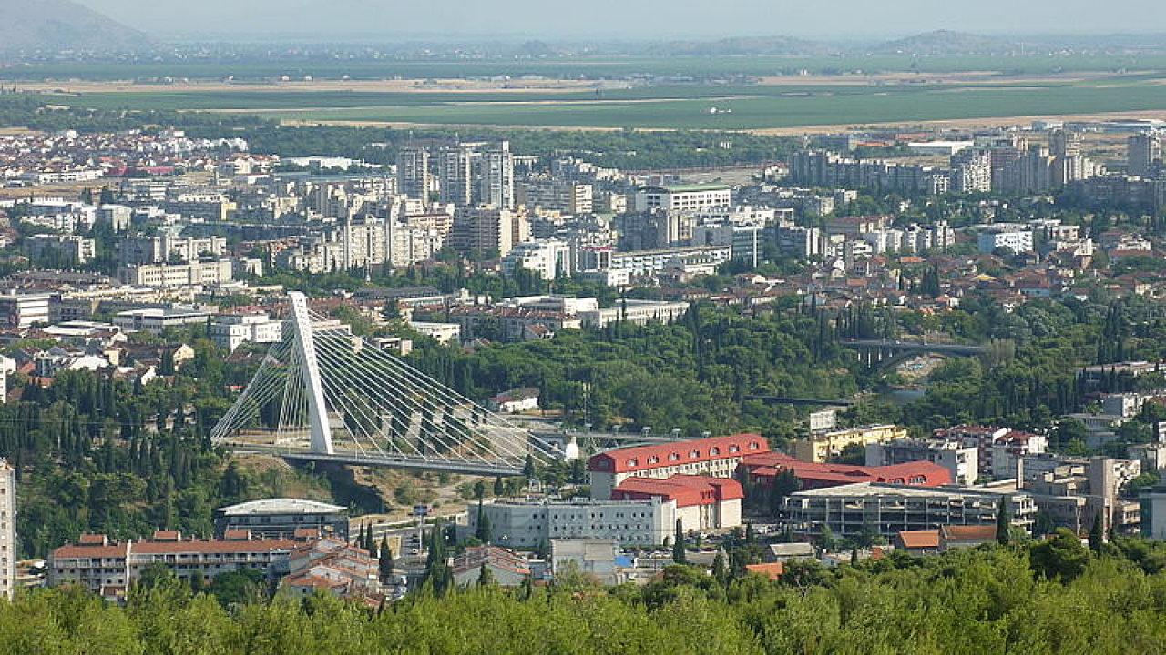 Podgorica, hlavní město Černé Hory