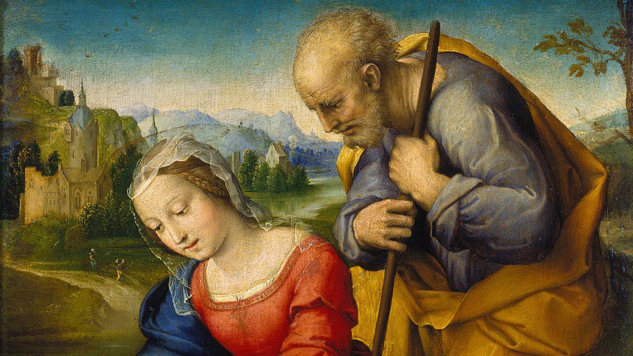 Raffael: Svatá rodina s jehnětem, 1507