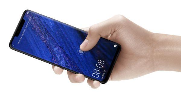 Huawei Mate 20 Pro má tři fotoaparáty a čtečku otisků v displeji