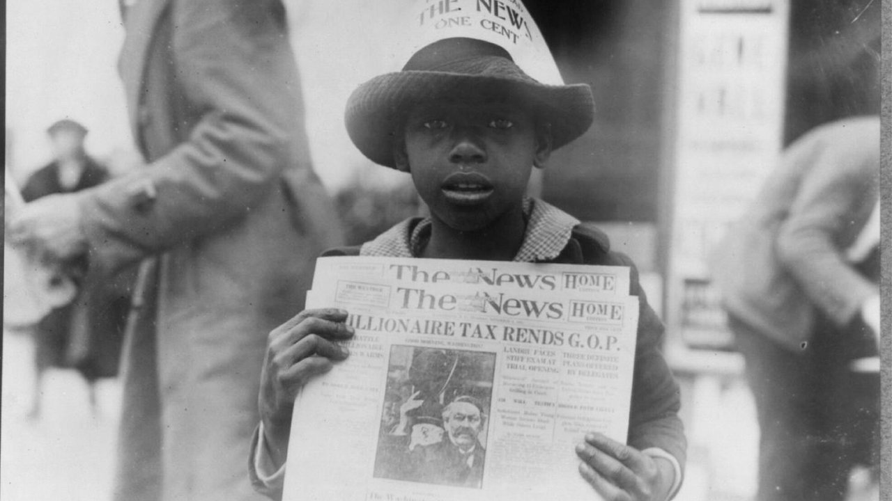 Newspaper Boy, 1921