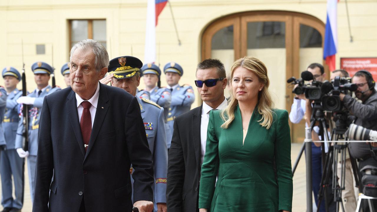 Slovenská prezidentka Zuzana Čaputová přijela na návštěvu České republiky.