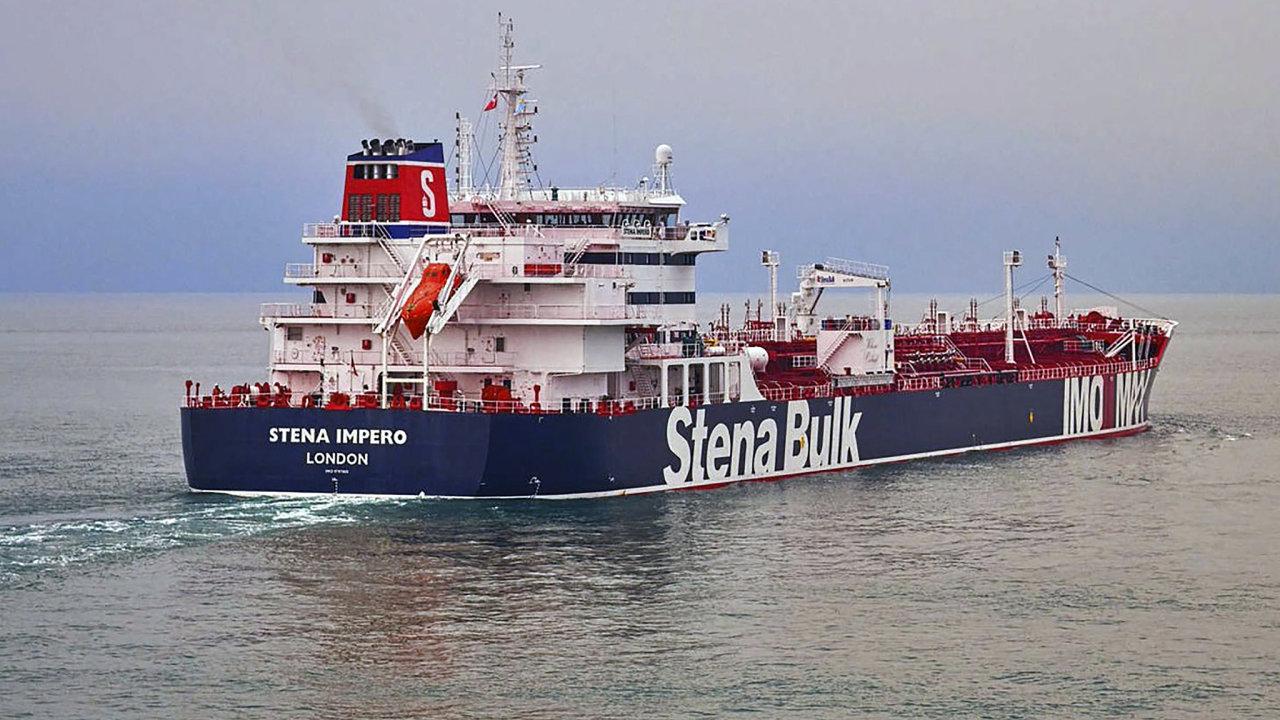 Zajatý tanker Sten Impero.