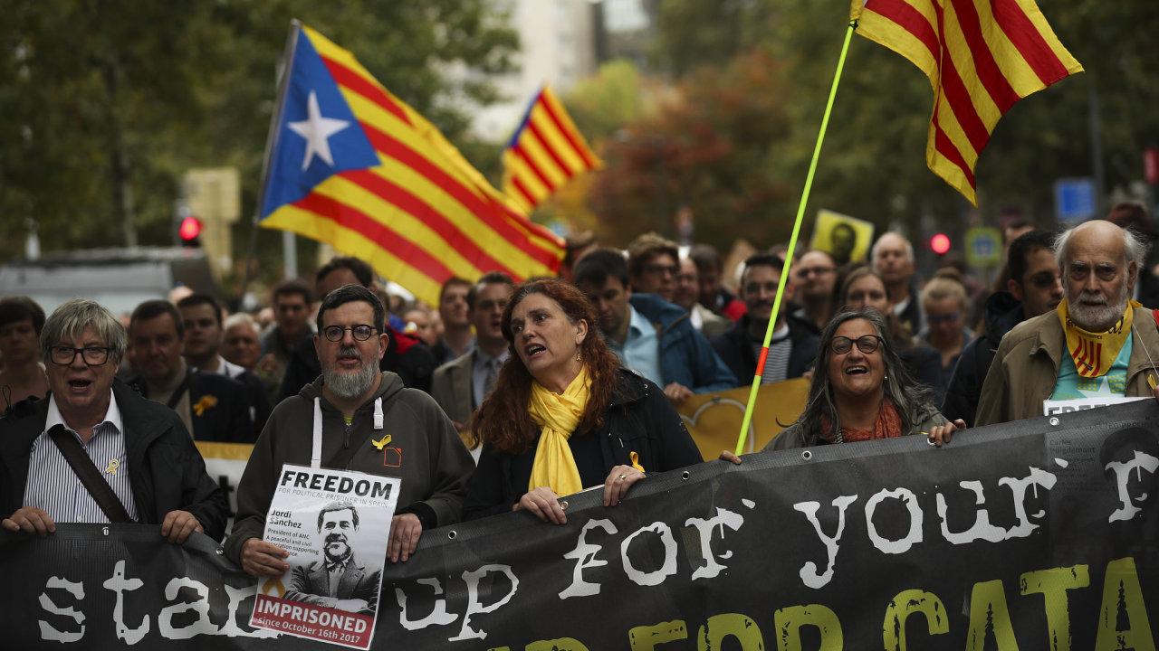 Katalánsko protesty