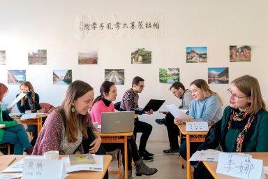 Hodina čínštiny v olomouckém Konfuciově institutu - Ilustrační foto.