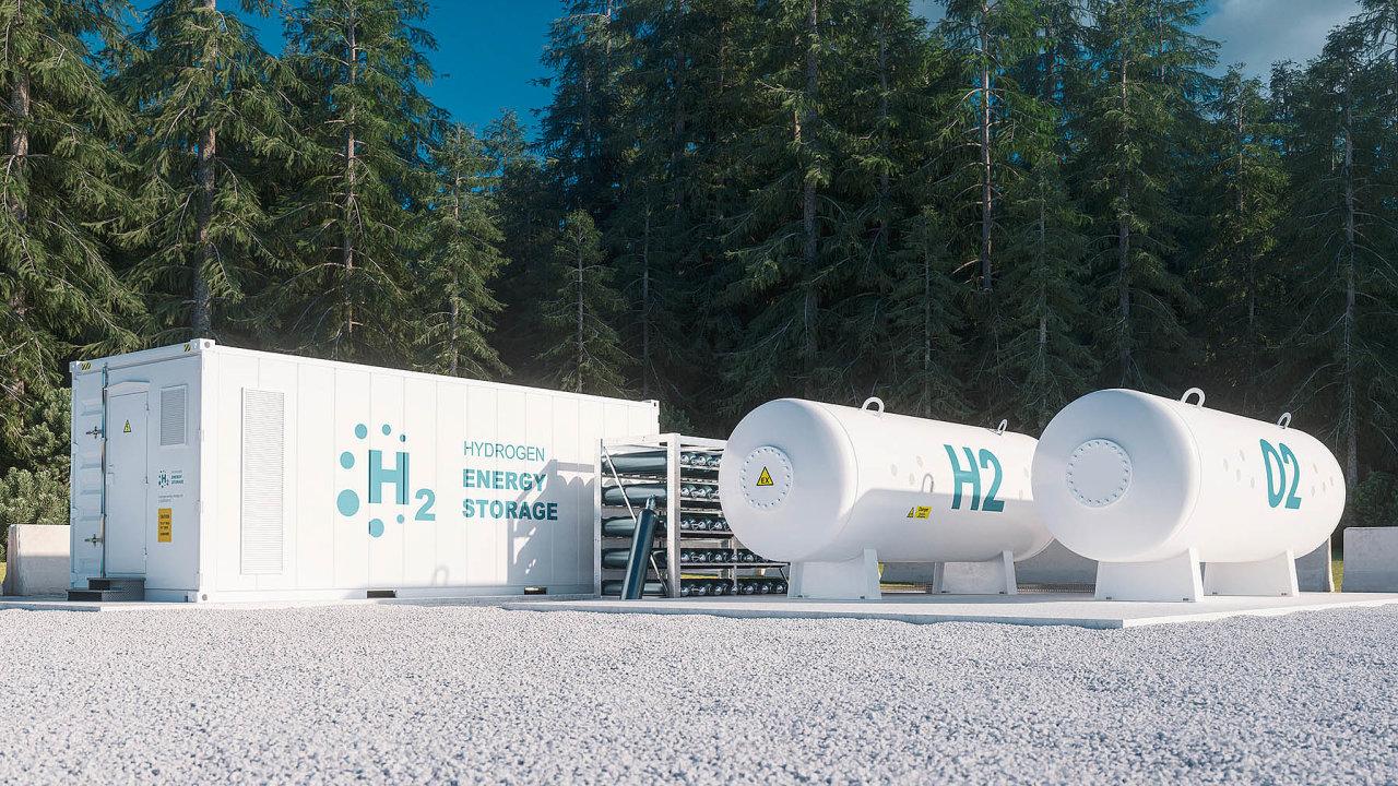 Vodík nabízí možnost skladování a přepravy velkého množství energie.