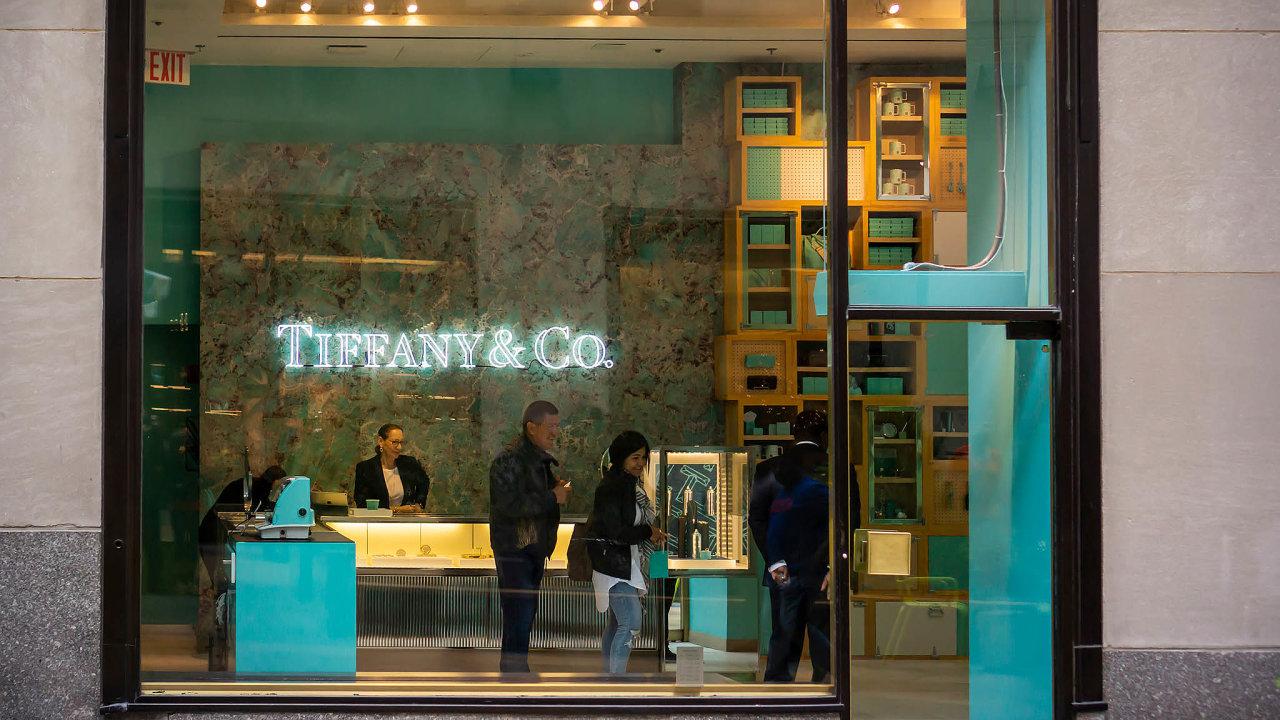 Nasnímku jedna zprodejen Tiffany