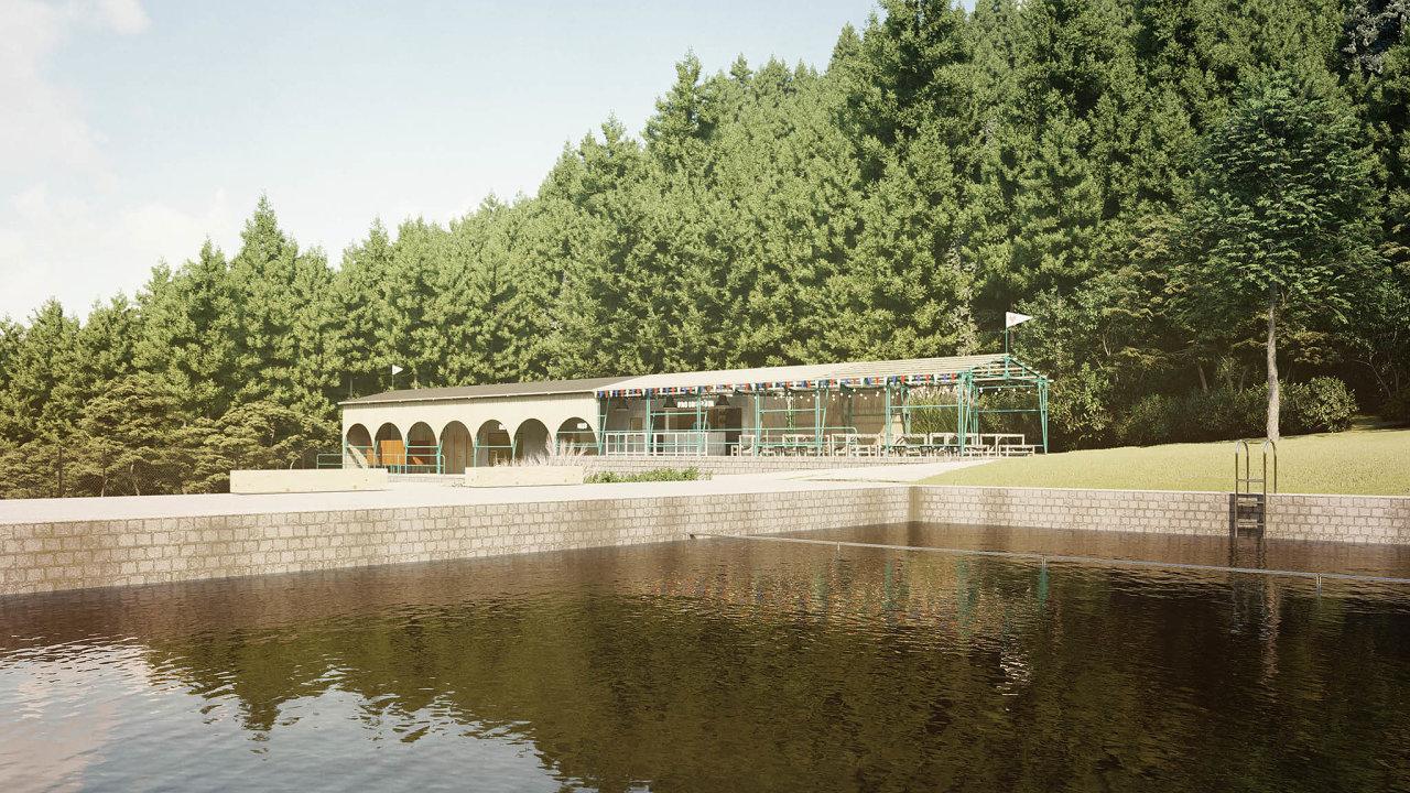 Legendární liberecké lesní koupaliště se pod rukama architektů Mjölk brzy vrátí ke svému prvorepublikovému lesku.
