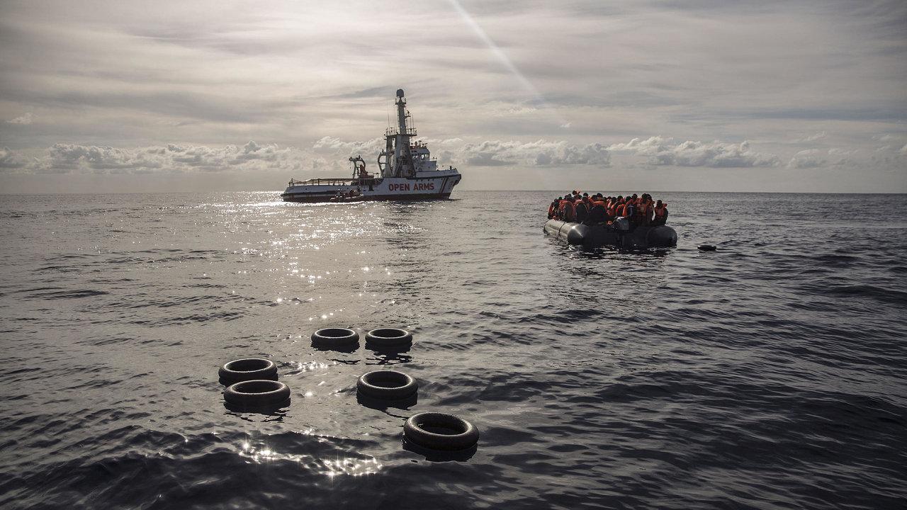 Migrant, migranti, uprchlík, uprchlíci, loď OPEN ARMS, Španělsko, Středozemní moře, záchrana, migrace