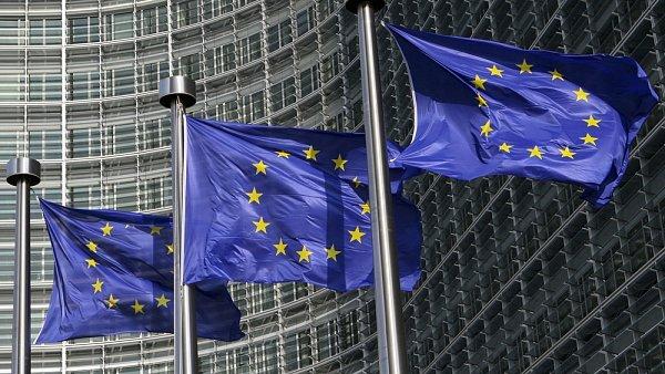 Vlajky Evropsk� unie - Ilustra�n� foto.