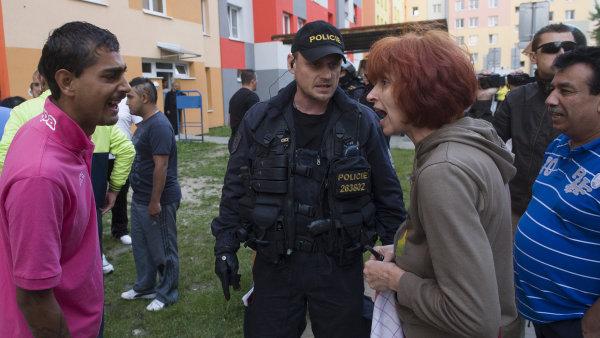 Protiromská demonstrace v Českých Budějovicích