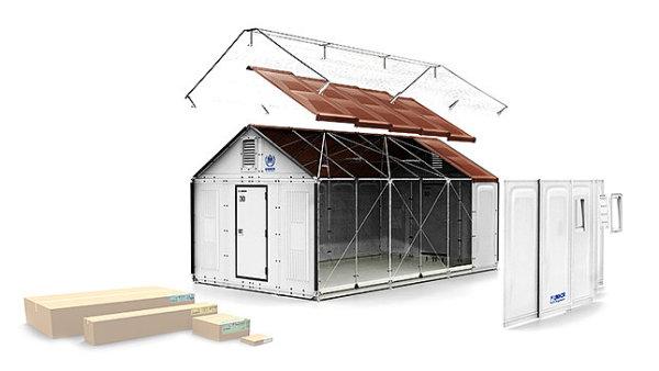 Humanitární stany pro uprchlíky od Ikey
