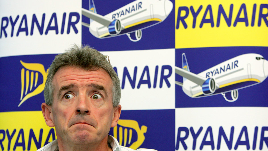 Šéf Ryanairu Michael O´Leary nyní mnoho důvodů k úsměvu nemá.