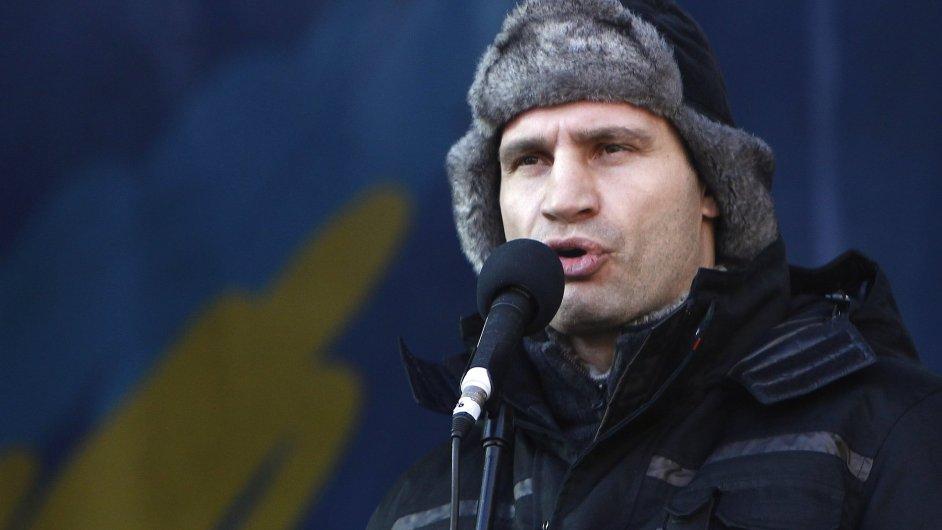 Opoziční předák Ukrajiny Vitalij Kličko
