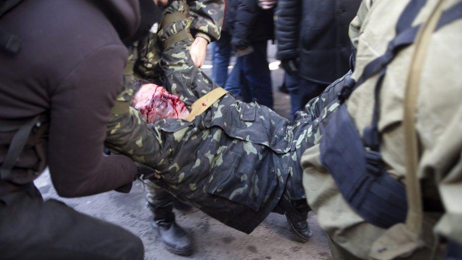 Zranění na kyjevských protestech