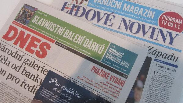 Mafra vyd�v� nap��klad tituly MF Dnes, Lidov� noviny nebo Metro.
