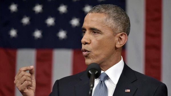 Barack Obama ve Washingtonu přednáší Zprávu o stavu Unie.