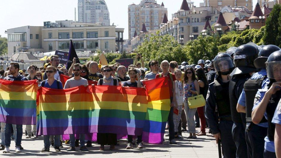Při akci homosexuálů v Kyjevě devět zraněných a 25 zatčených.
