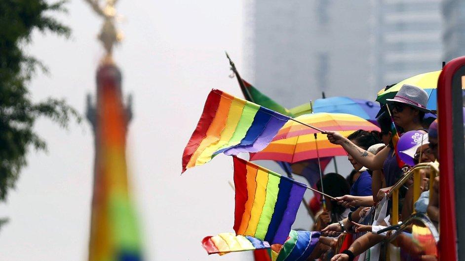 Pochod za práva gayů a lesbiček.