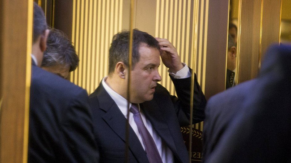 Šéf Organizace pro bezpečnost a spolupráci v Evropě (OBSE), srbský ministr zahraničí Ivica Dačić na jednání v Minsku.