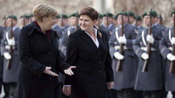 Polská premiérka Beata Szydlová řešila uprchlickou krizi s Angelou Merkelovou.
