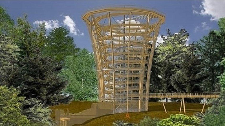 Vizualizace Stezky korunami stromů v Krkonoších