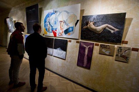 Snímek z výstavy Junge Prager, Junge Berliner v nové galerii Smetana Q.