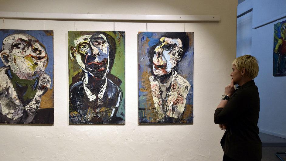 Snímek z výstavy Tomáše Měšťánka.