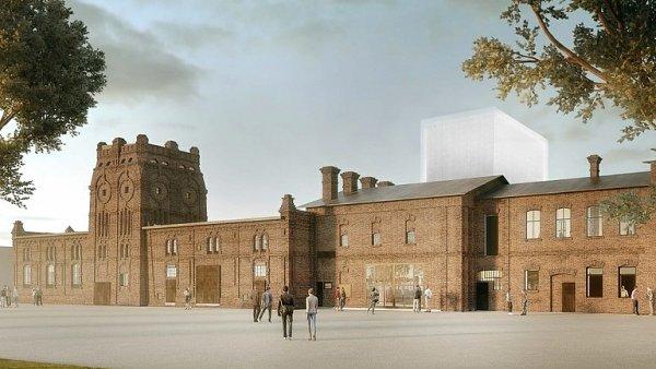Na snímku je vizualizace vítězného návrhu přestavby jatek od studia Petr Hájek Architekti.