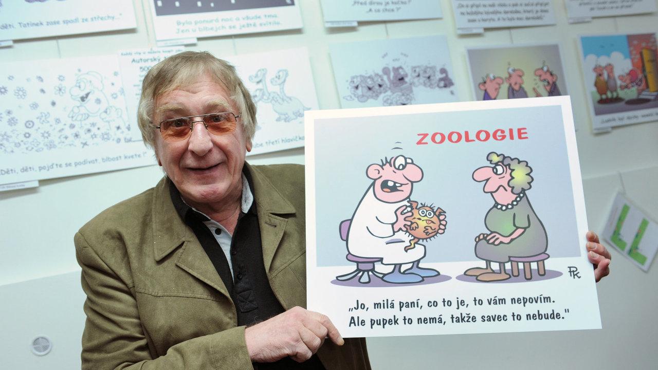 Zahájení výstavy autora kreslených vtipů a povídek Pavla Kantorka Nová sebranka se uskutečnilo 19. října v kulturním centru InGarden.
