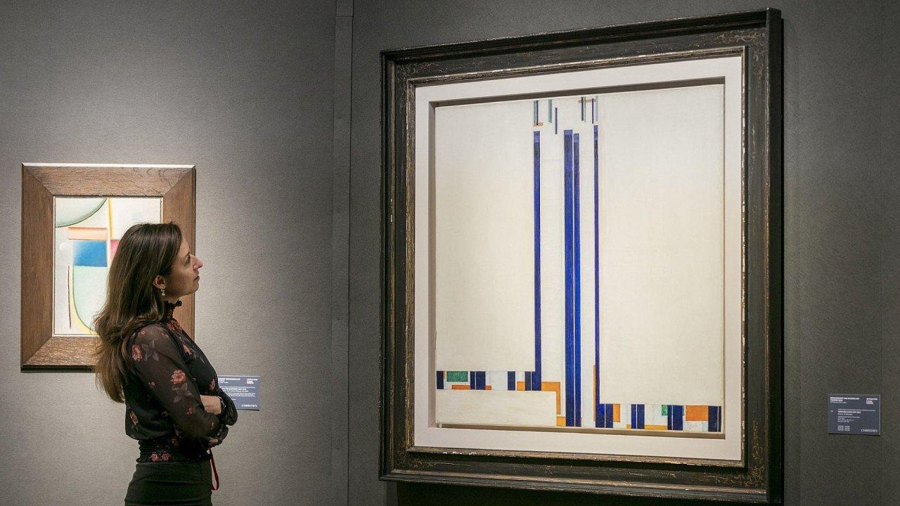 Průkopník abstraktní malby František Kupka je nejdražším českým umělcem na trhu.