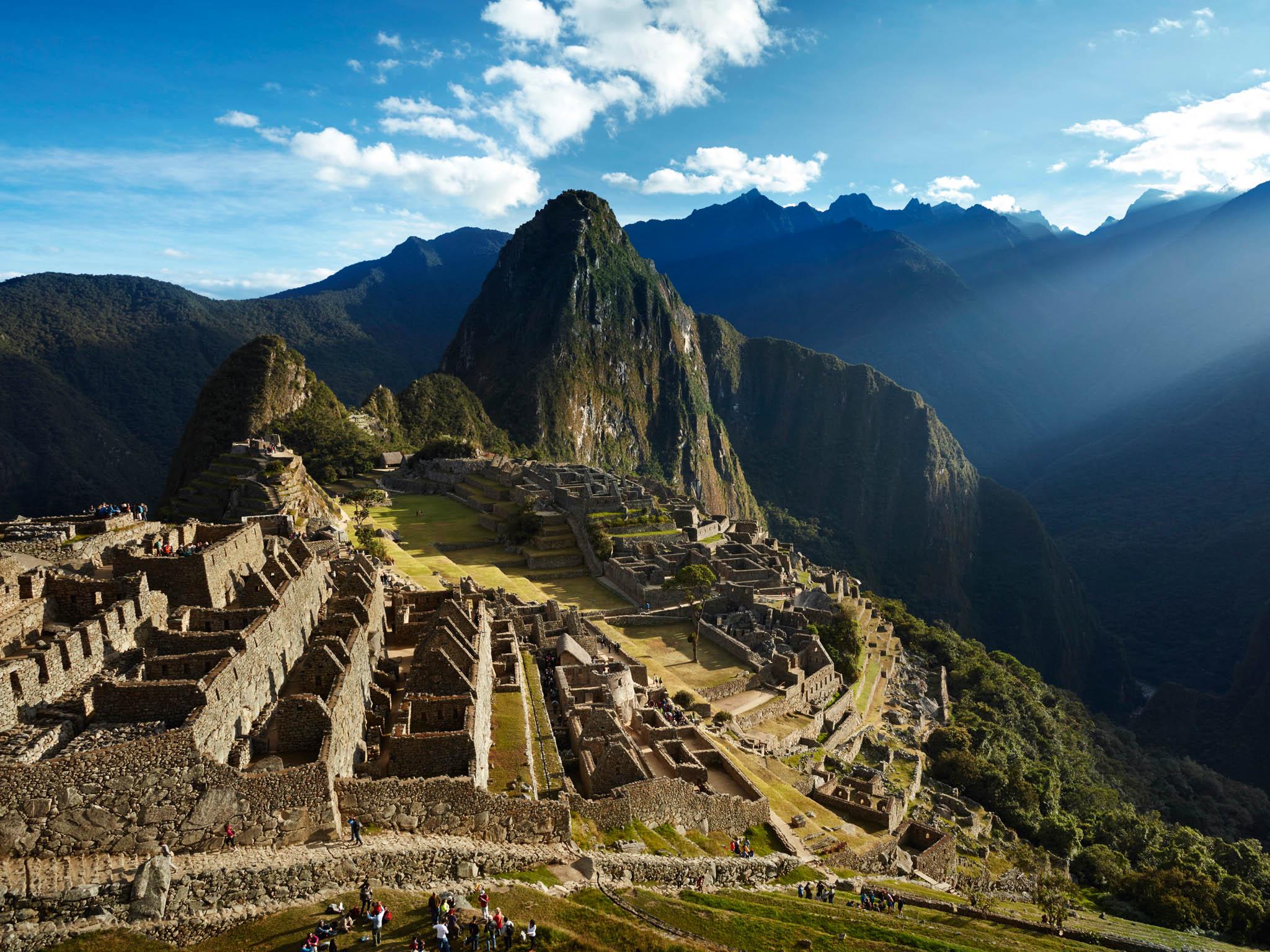 Pohled na Machu Picchu