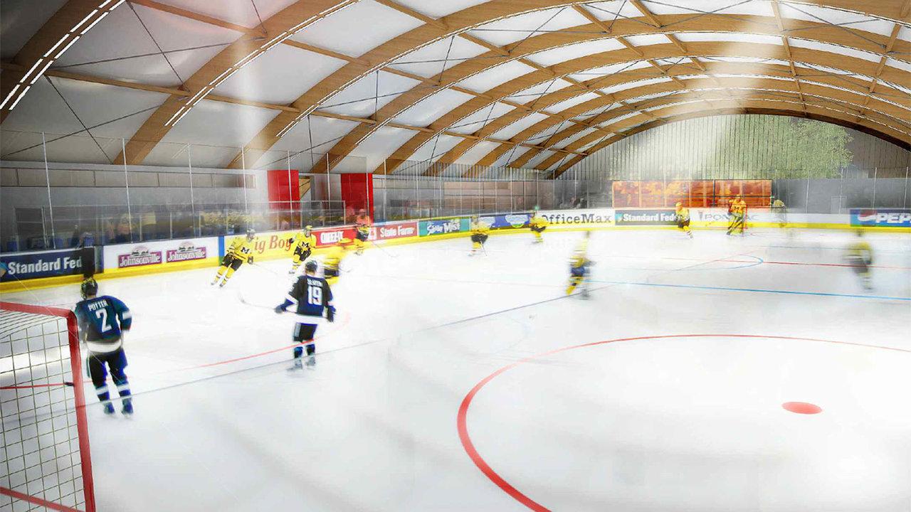 Národní investiční plán počítá s budováním zimních stadionů v menších městech. Vychází z projektu nízkonákladového zimního stadionu, který před dvěma lety nechal připravit Český svaz ledního hokeje.