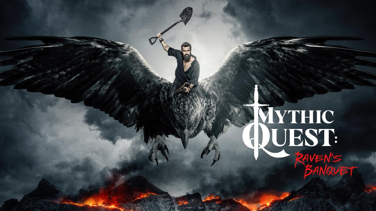 Mythic Quest těží ze zkušeností Roba McElhenneyho a Charlieho Daye. McElhenney si v Krkavčí hostině zahrál hlavní roli kreativního ředitele herního studia.