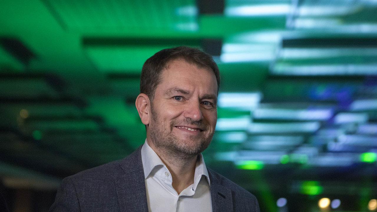Vítěz slovenských voleb Igor Matovič