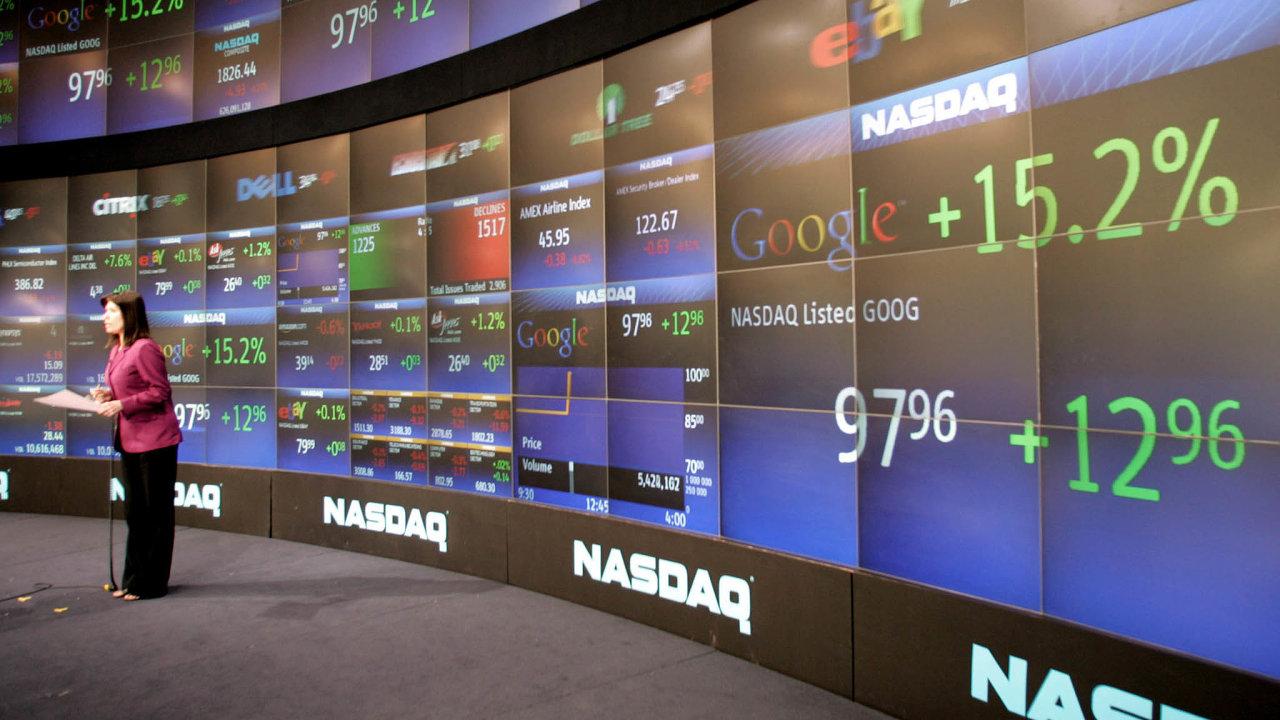 Rychlý návrat. Nejrychleji se zpropadů trhů zotavily technologické tituly. Je to vidět naindexu newyorského trhu Nasdaq. Natomto trhu většina technologických firem obchoduje.