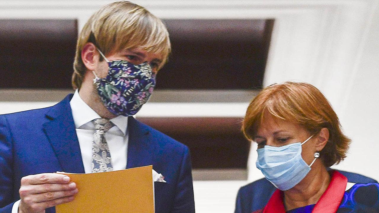 Ministr shygieniky: Adam Vojtěch se ve středu sešel sřediteli krajských hygienických stanic. Nasnímku je shlavní hygieničkou Jarmilou Rážovou.