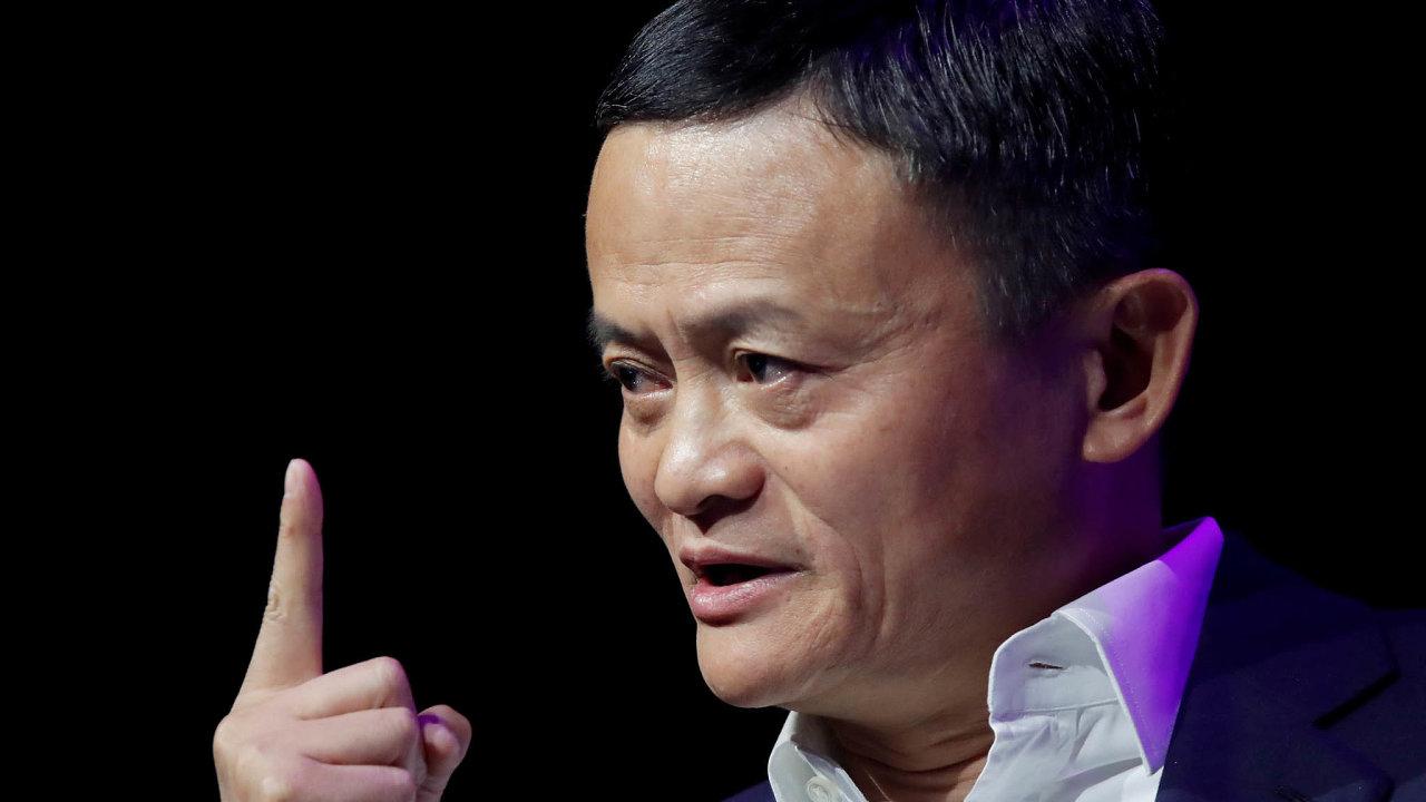 Miliardář Jack Ma, zakladatel čínského technologického kolosu Alibaba.
