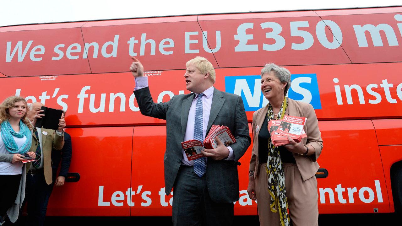 Obrat. Léta byl proti tomu, aby Velká Británie opustila EU. Nakonec se právě Johnson stal hlavní hvězdou brexitu.