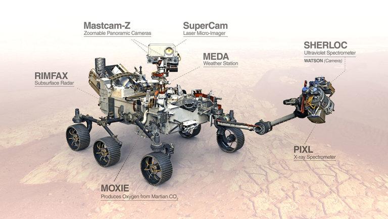 ZaL TM A zenA na roveru Perseverance
