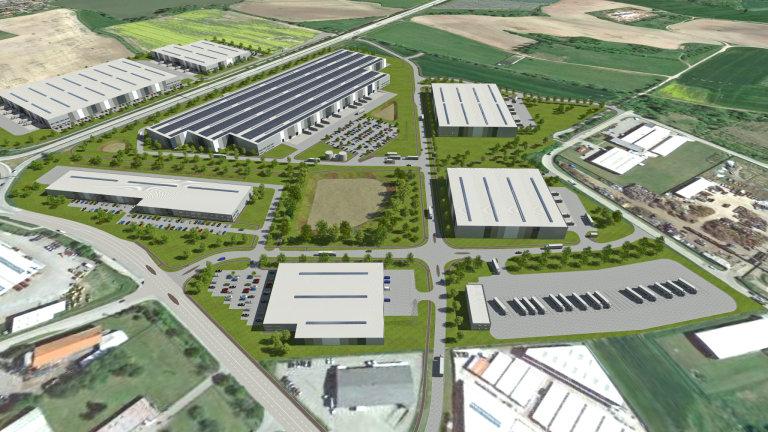 V areálu vznikne celkem sedm budov s důrazem na energetickou efektivitu a udržitelnost, které cílí na zelený certifikát BREEAM ve stupni Very Good (vizualizace).