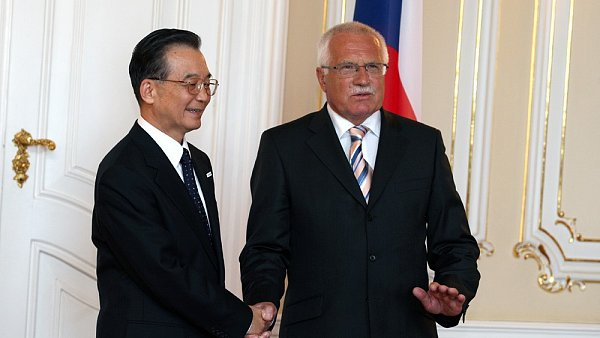 Václav Klaus a čínský premiér Wen Tia-pao
