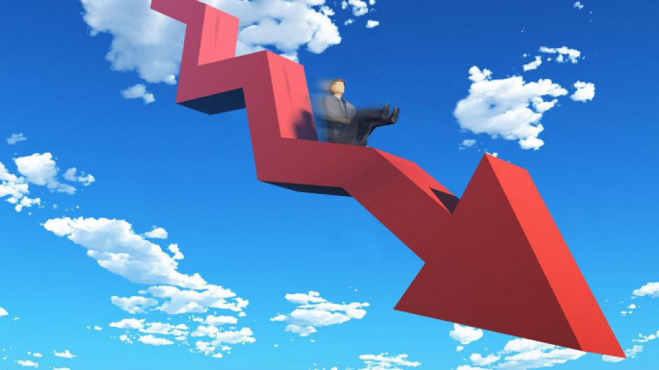 Krize, recese. Ilustrační foto.