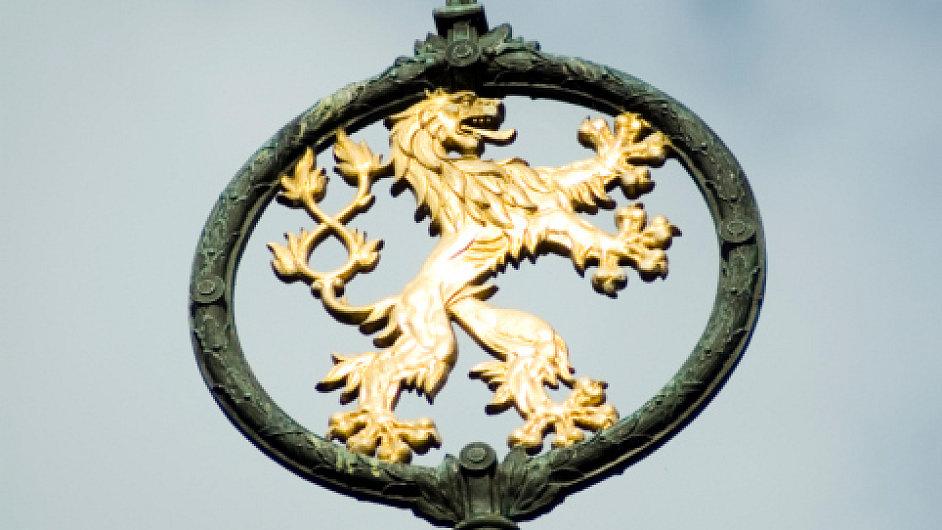 Lev ve znaku České republiky.