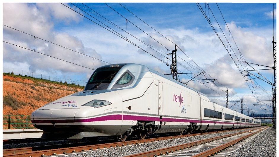 Vlaky společnosti Renfe dosahují rychlosti 310 kilometrů v hodině.