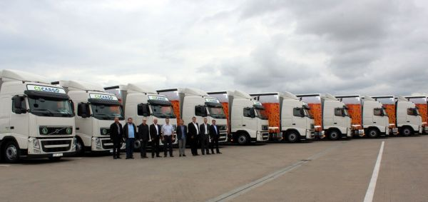 Nové vozy Volvo připravené pro zákazníka C. S. Cargo