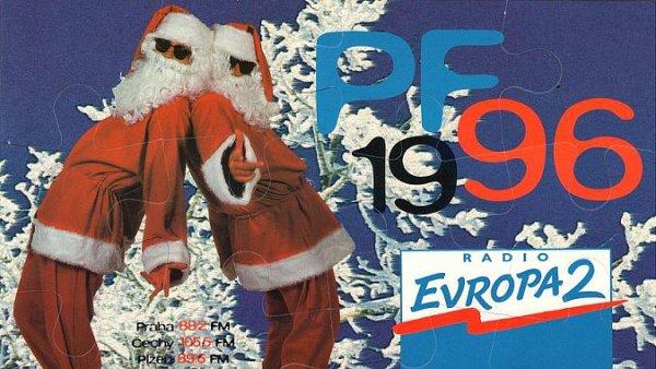 Jeden z prvních vizuálů rádia Evropa 2 (rok 1996)