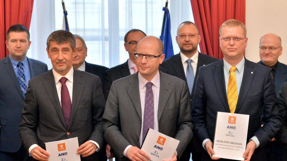 Předsedové ANO, ČSSD a KDU-ČSL